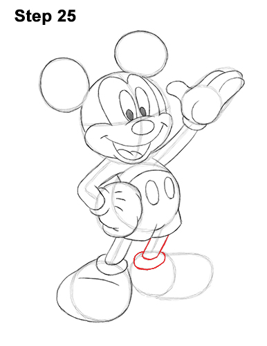 How to Draw Classic Mickey Mouse Full Body Disney 25