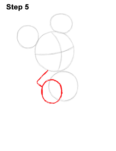 How to Draw Classic Mickey Mouse Full Body Disney 5