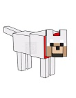 How to Draw a Minecraft Wolf Dog Pet
