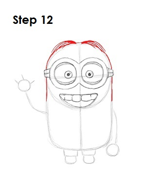 How to Draw a Minion Step 12