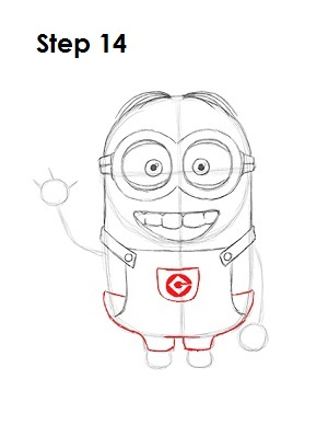 How to Draw a Minion Step 14