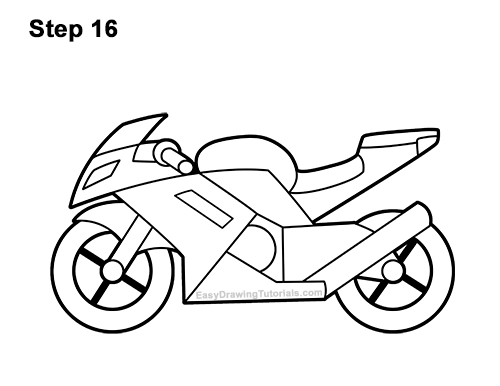 How to Draw a Motorcycle VIDEO & Step-by-Step Pictures