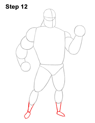How to Draw Mr. Incredible Bob Parr 12