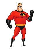 How to Draw Mr. Incredible Bob Parr Dad