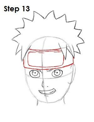 How to Draw Naruto Step 13