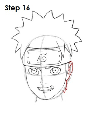 How to Draw Naruto Step 16
