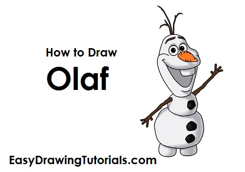 How to Draw Olaf Snowman