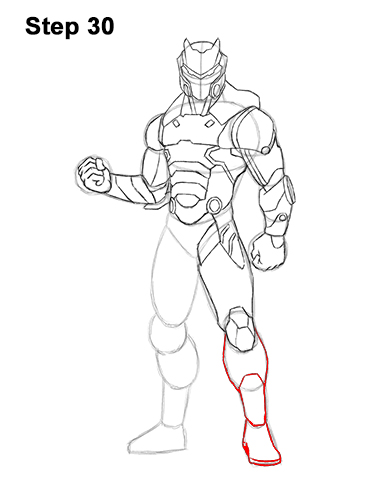How To Draw Omega From Fortnite Video Amp Step By Step Pictures
