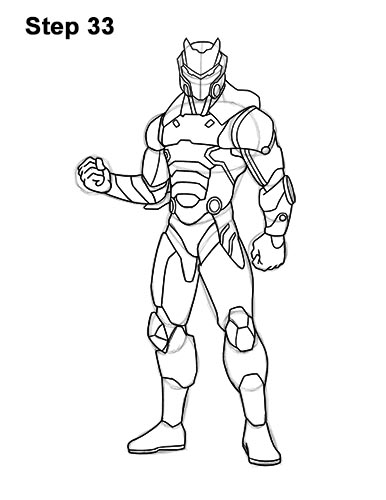 How To Draw Omega From Fortnite Video Step By Step Pictures