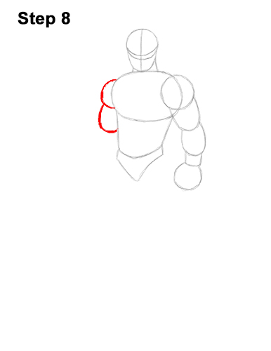 How to Draw Omega Skin Fortnite Battle Royale 8