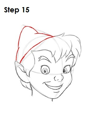 How to Draw Peter Pan Step 15