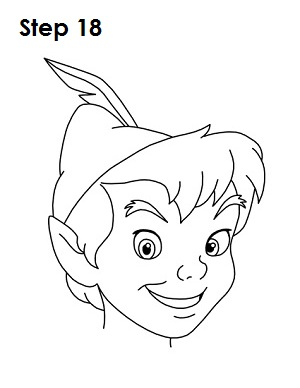How to Draw Peter Pan Step 18
