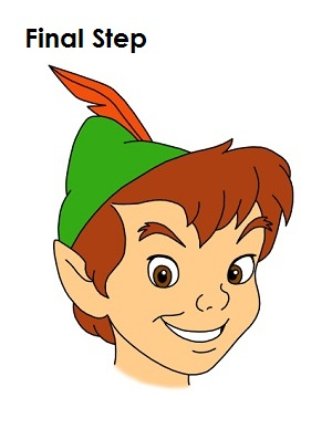 How to Draw Peter Pan Last Step