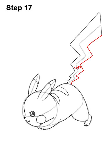 How To Draw Pikachu Attack Pose