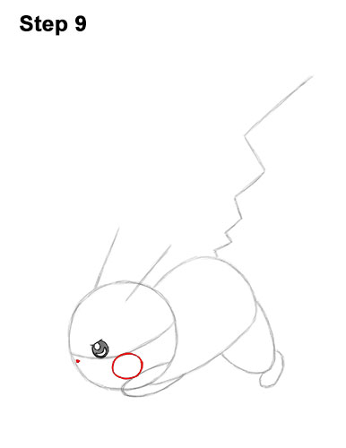 How to Draw Pikachu Pokemon Side Lightning Rod Attack Fight Battle Bold 9
