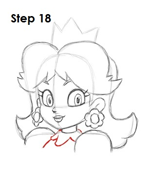 Draw Princess Daisy Step 18