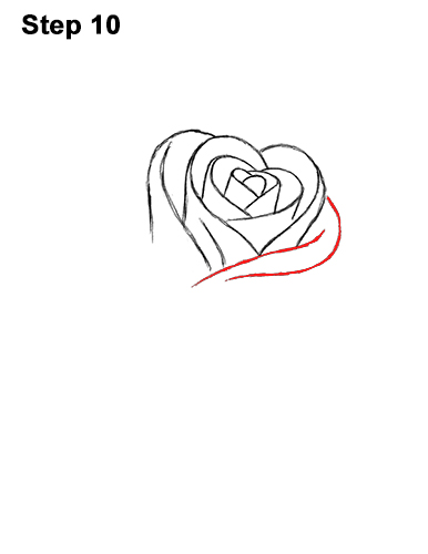 How to Draw Red Rose 10