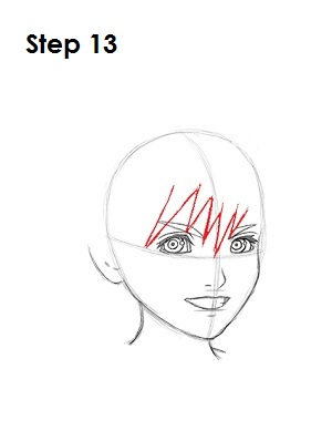 How to Draw Roxas Step 13
