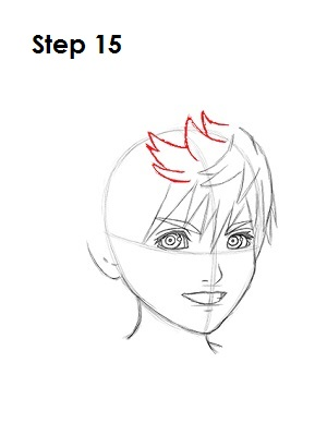 How to Draw Roxas Step 15