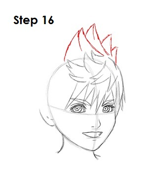 How to Draw Roxas Step 16