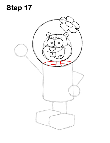 How to Draw Sandy Cheeks SpongeBob SquarePants 17