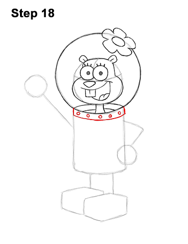 How to Draw Sandy Cheeks SpongeBob SquarePants 18