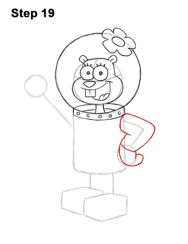 How to Draw Sandy Cheeks SpongeBob SquarePants 19