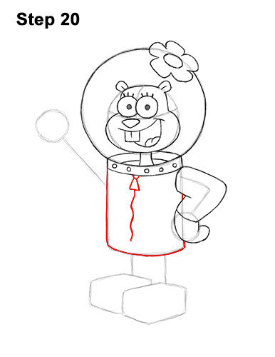 How to Draw Sandy Cheeks SpongeBob SquarePants 20