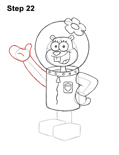 How to Draw Sandy Cheeks SpongeBob SquarePants 22