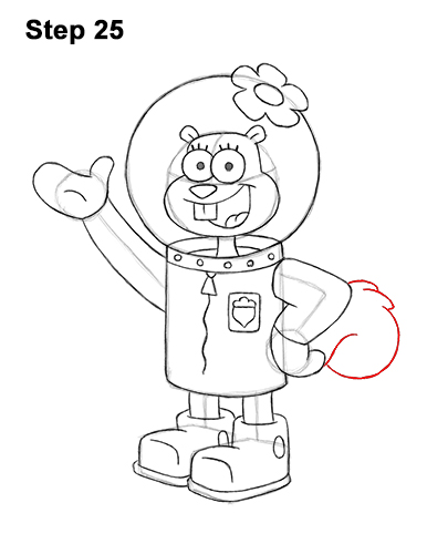 How to Draw Sandy Cheeks SpongeBob SquarePants 25