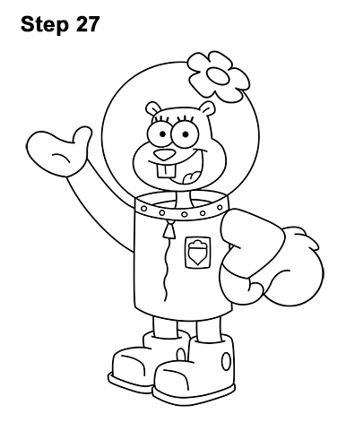 How to Draw Sandy Cheeks SpongeBob SquarePants 27