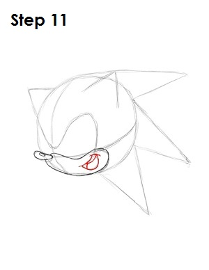 How to Draw Sonic X Step 11