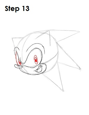 How to Draw Sonic X Step 13