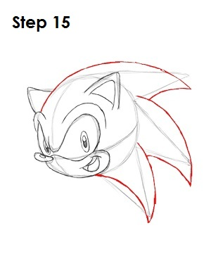How to Draw Sonic X Step 15