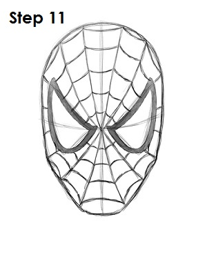 How to Draw Spider-Man Step 11