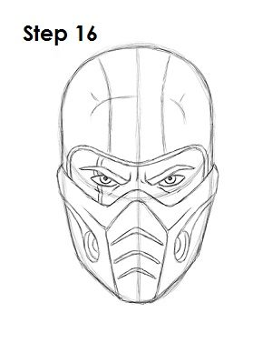How to Draw Sub-Zero Step 16