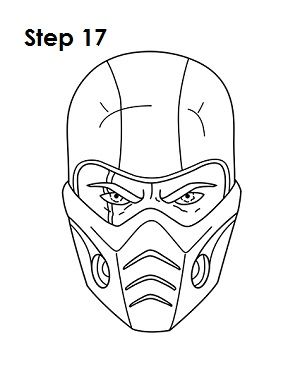 How to Draw Sub-Zero Step 17