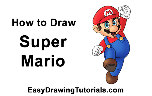 How to Draw Super Mario (Full Body)