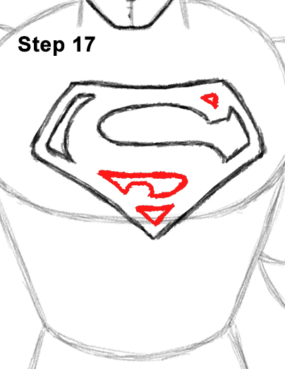 Draw Superman Full Body 17
