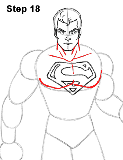 Draw Superman Full Body 18