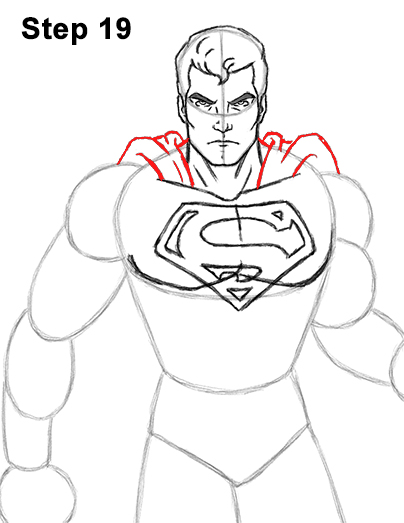 Draw Superman Full Body 19