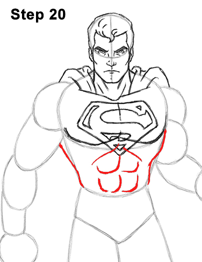Draw Superman Full Body 20