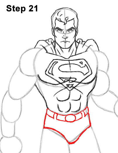 Draw Superman Full Body 21