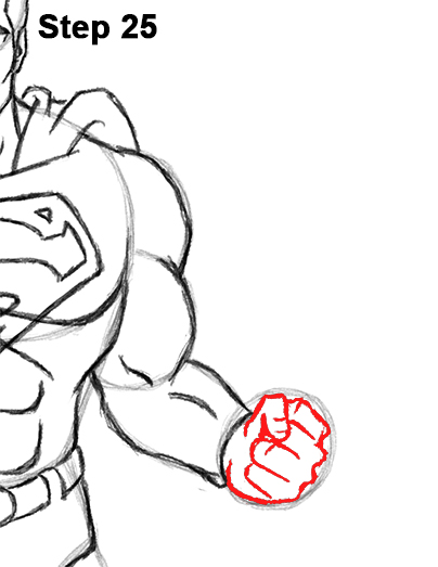 Draw Superman Full Body 25