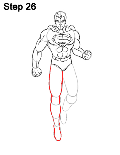 Draw Superman Full Body 26