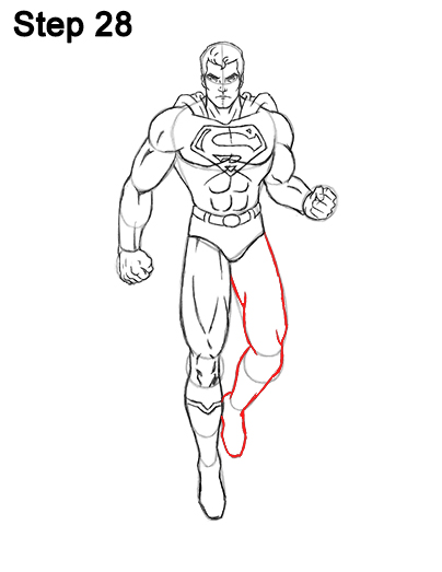 Draw Superman Full Body 28