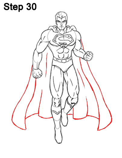 Draw Superman Full Body 30