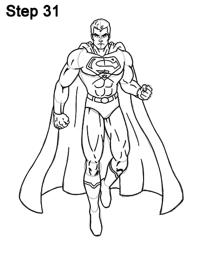 Draw Superman Full Body 31
