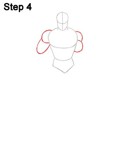 Draw Superman Full Body 4