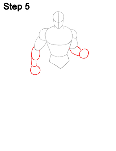 Draw Superman Full Body 5